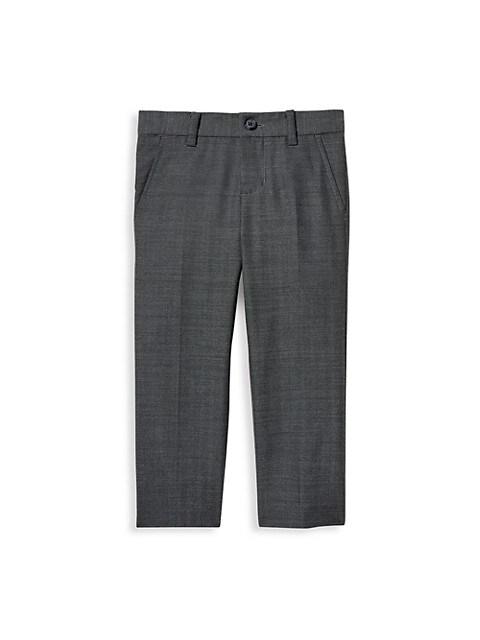 Baby's, Little Boy's & Boy's Herringbone Wool Pants