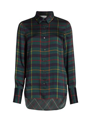 Monse Harris Tartan Cowl Back Shirt