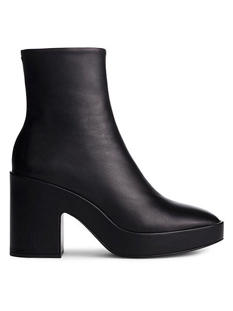Fei Leather Platform Ankle Boots