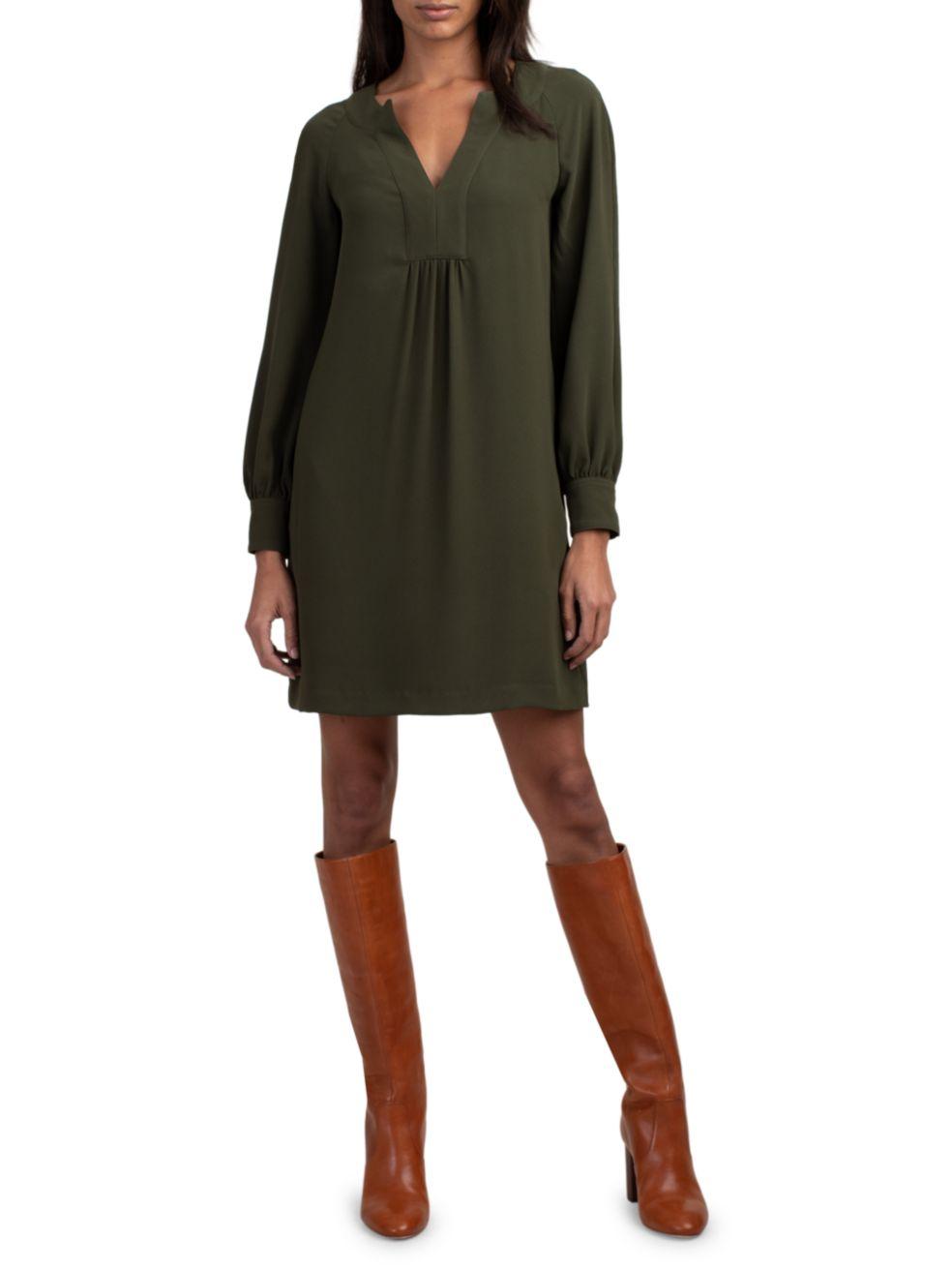Trina Turk Theda Crepe Dress   SaksFifthAvenue