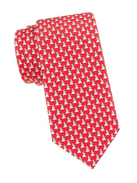 Dogs Silk Tie