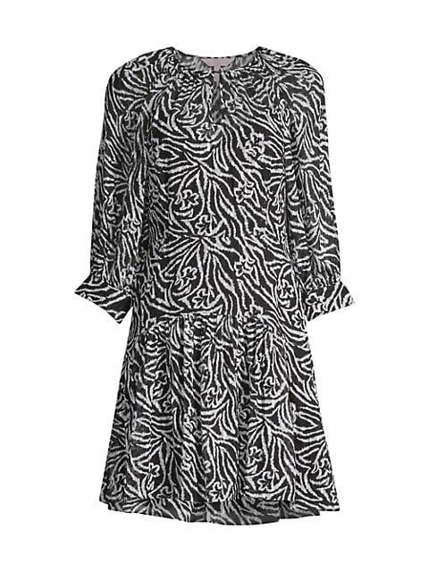 Zebra Lily Mini Dress