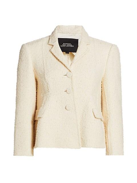 Bouclé Shaped Wool-Blend Jacket