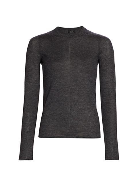 Rag & Bone Mandee Crewneck Cashmere Sweater   SaksFifthAvenue