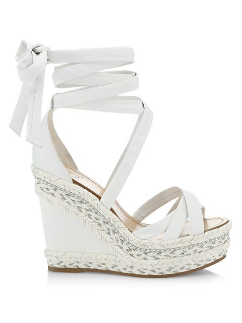 Lagoa Leather Espadrille Platform Wedge Sandals