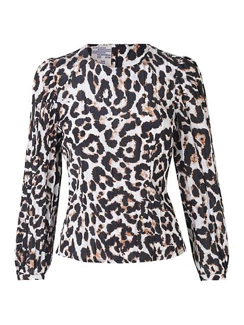 Mylee Leopard-Print Blouse