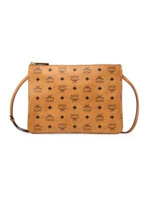 Mcm Medium Visetos Original Leather Pouch