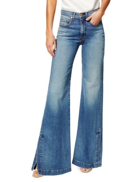 Ramy Brook Tyra Vintage Slit Wide Jeans   SaksFifthAvenue