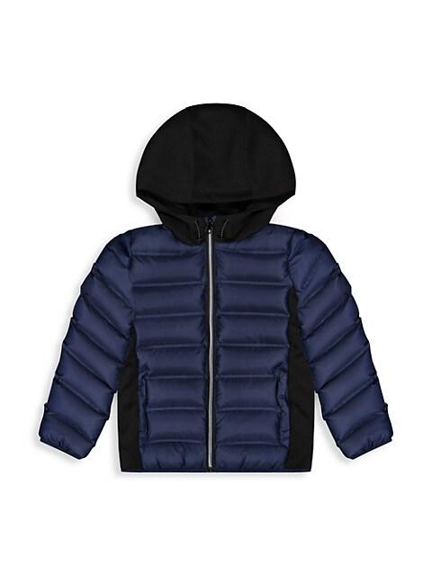 Andy & Evan Little Boys Scuba Side Puffer Jacket