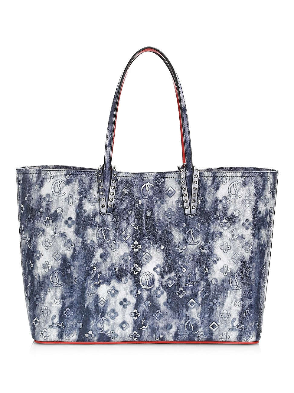 Christian Louboutin Leathers WOMEN'S CABATA TIE-DYE LEATHER TOTE