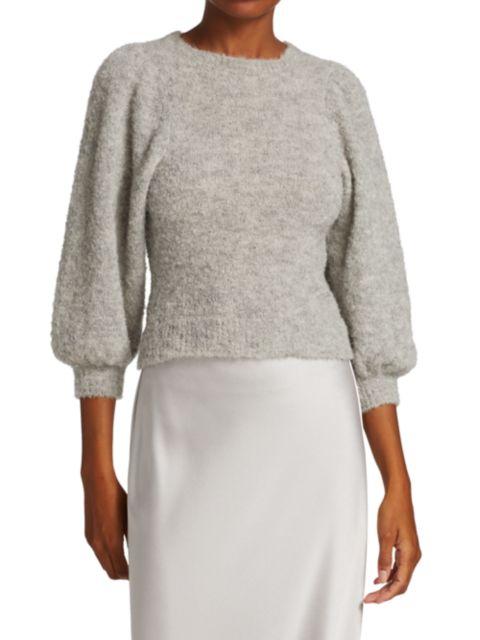 Rachel Comey Forbell Boucle Alpaca-Blend Sweater | SaksFifthAvenue