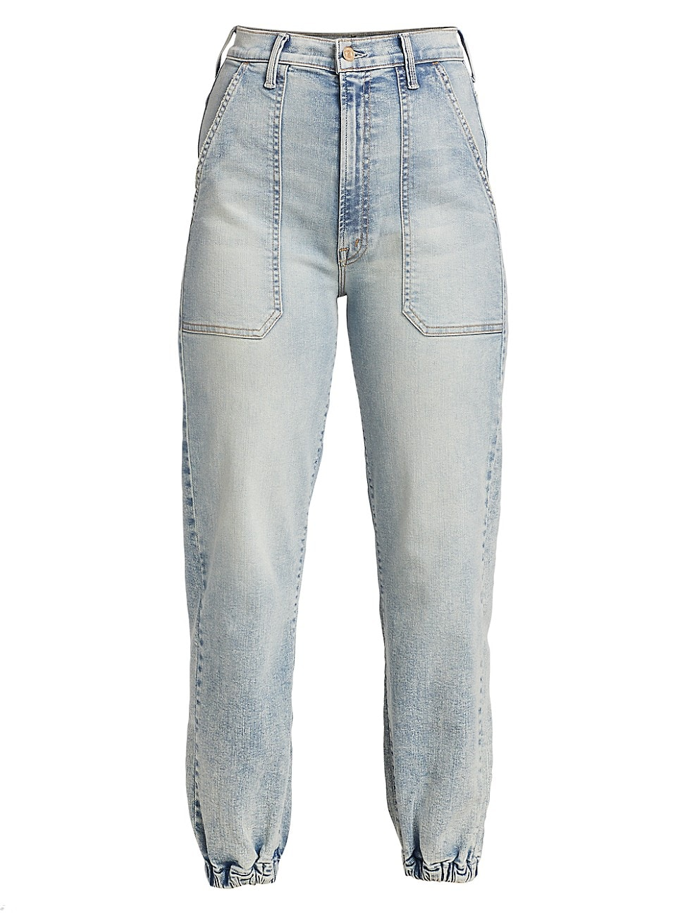 MOTHER WOMEN'S THE WRAPPER PATCH ANKLE JEANS