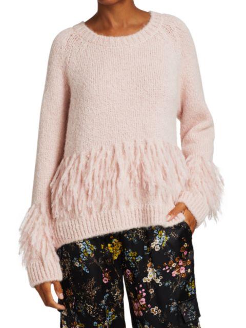 Cinq à Sept Izabella Fringe Sweater | SaksFifthAvenue