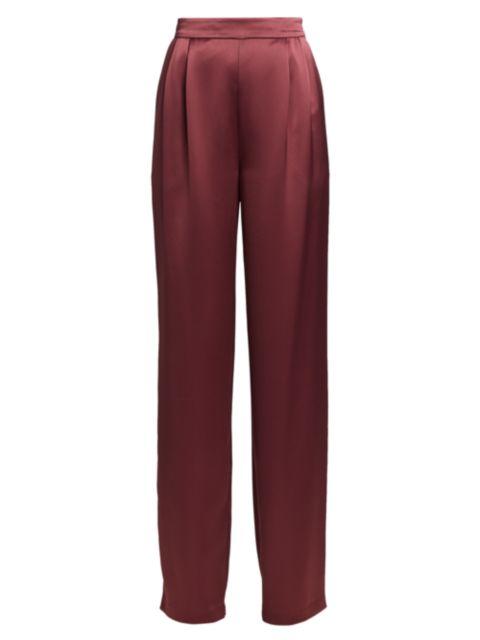 Cinq à Sept Alexi Satin Straight-Leg Pants   SaksFifthAvenue