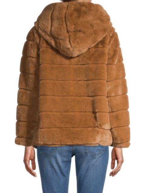 Apparis Goldie Hooded Faux-Fur Coat   SaksFifthAvenue