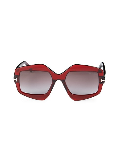 Tate 55MM Rectangle Sunglasses