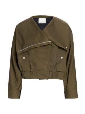 3.1 Phillip Lim Cottons Oversized Collar Twill Jacket