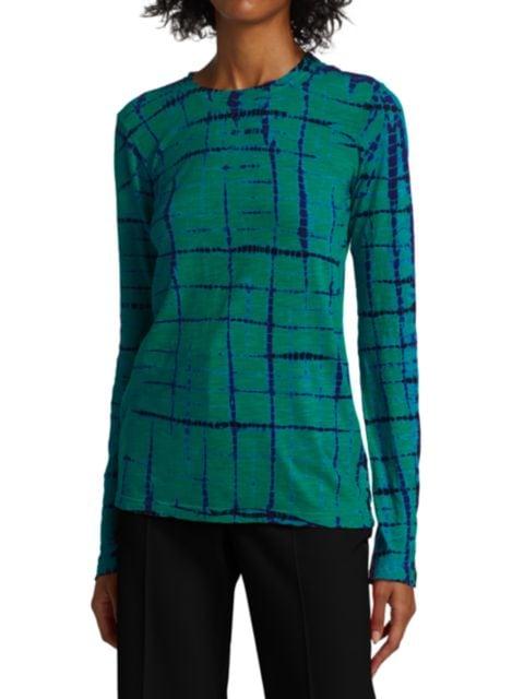 Proenza Schouler Tie-Dye Tissue Jersey Long-Sleeve Shirt | SaksFifthAvenue