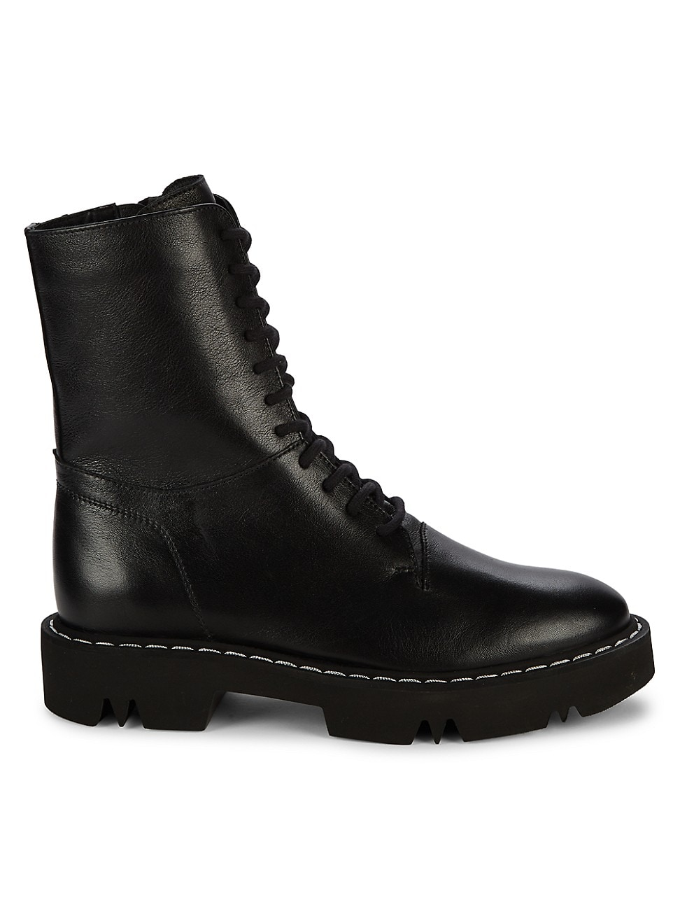 Aquatalia WOMEN'S HANA LEATHER COMBAT BOOTS