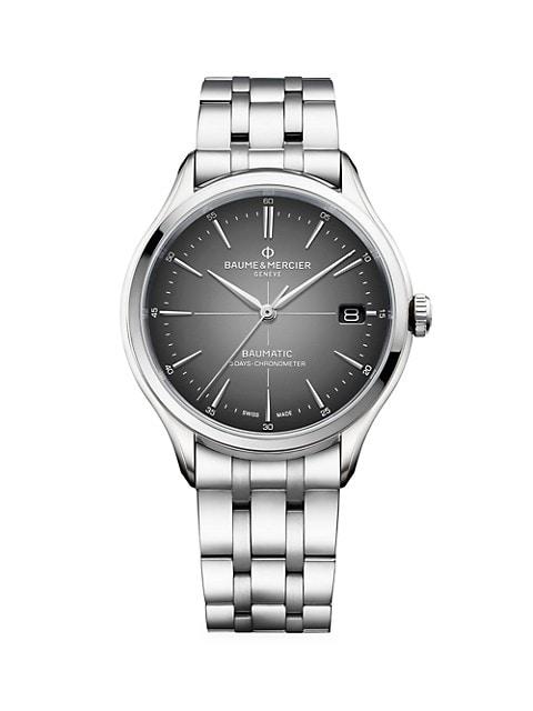 Clifton Baumatic Stainless Steel Bracelet Chronometer Watch
