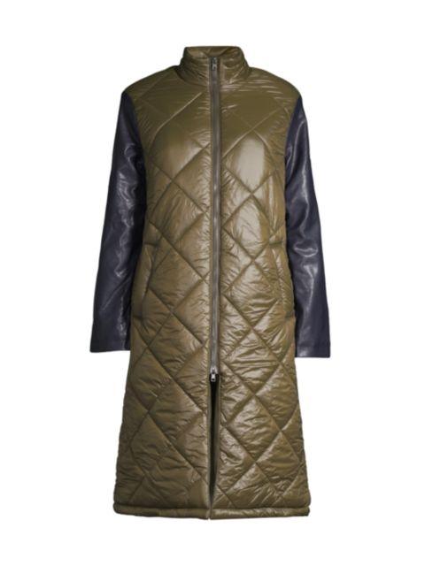 Apparis Brooklyn Quilted Longline Puffer Jacket | SaksFifthAvenue