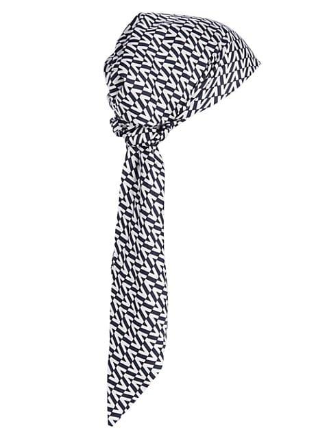 Logo-Print Silk Turban