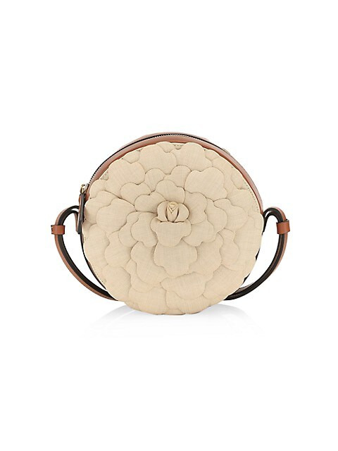 Valentino Garavani Atelier Rose 03 Leather Round Crossbody Bag