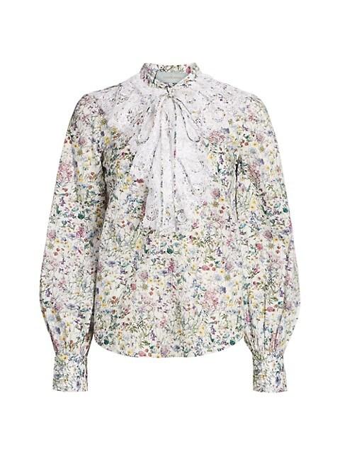 Meg Lace Ruffle Floral Shirt