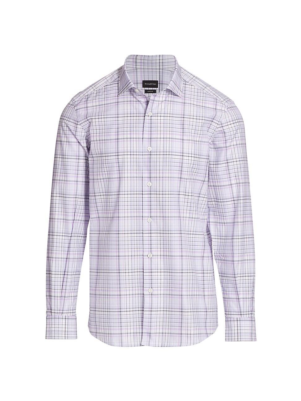 Ermenegildo Zegna Plaid Sport Shirt In Purple