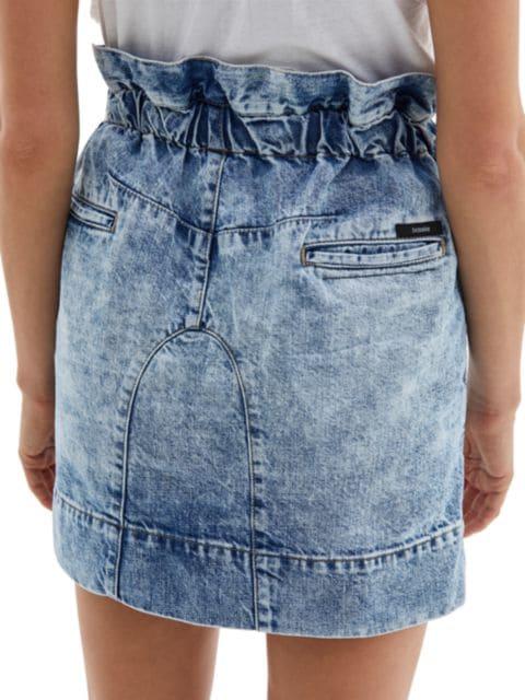 Bassike Paperbag Waist Denim Mini Skirt   SaksFifthAvenue