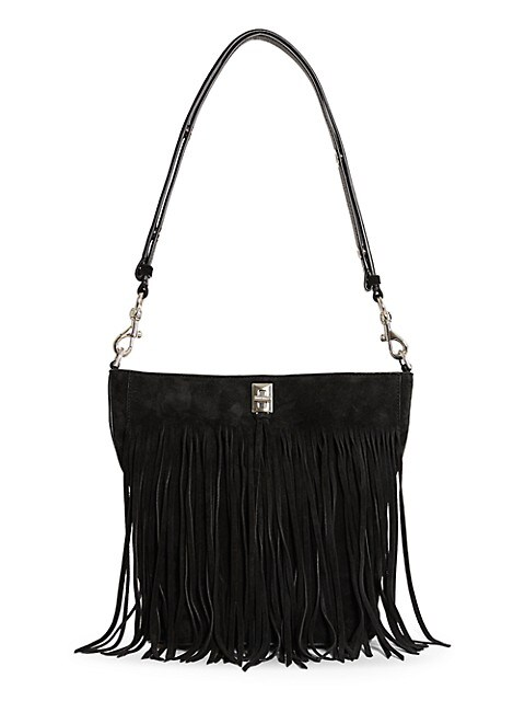 Darren Fringe Suede Bucket Bag