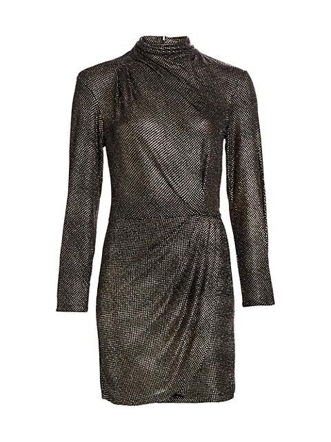 Rasile Turtleneck Metallic Dress
