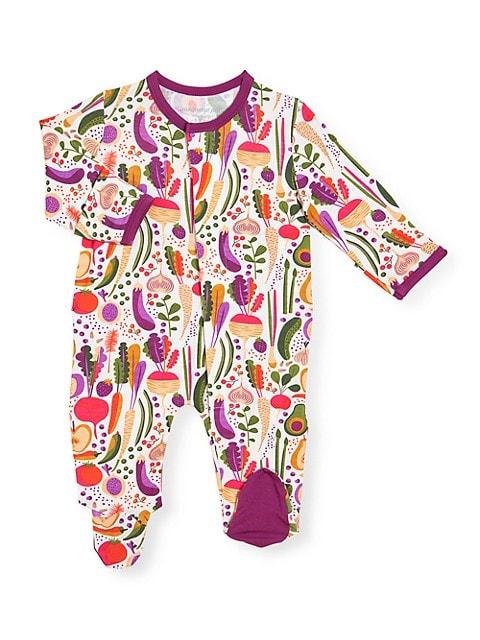 Magnetic Me Baby Girl S Home Grown Vegetable Print Footie Saksfifthavenue