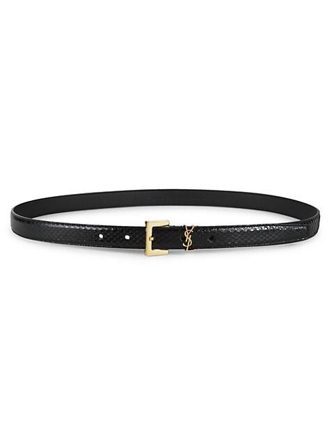 Monogram Python Belt