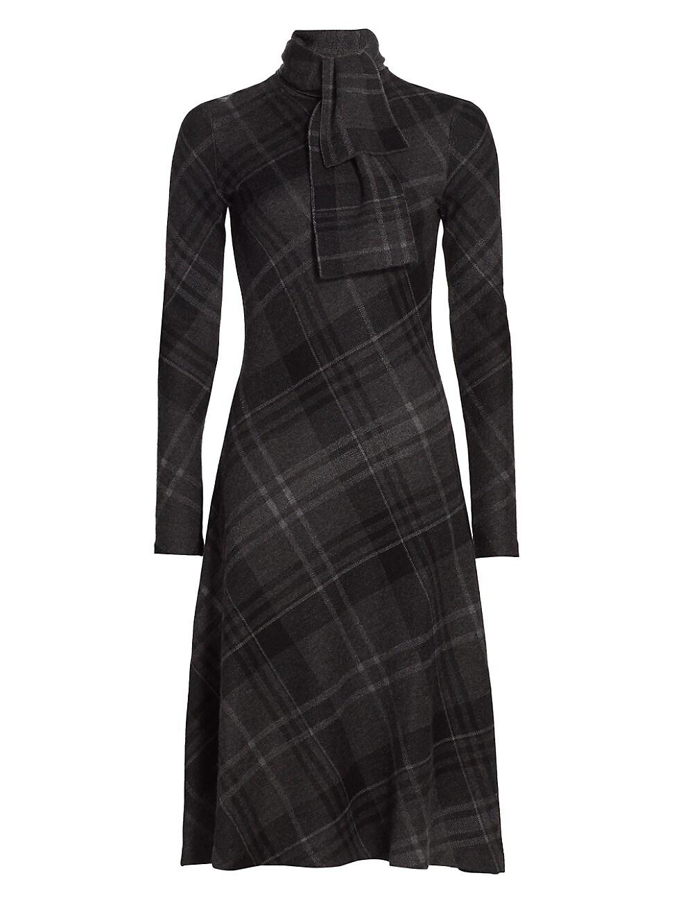 Ralph Lauren WOMEN'S SCARFNECK CASHMERE SWEATER DAY DRESS