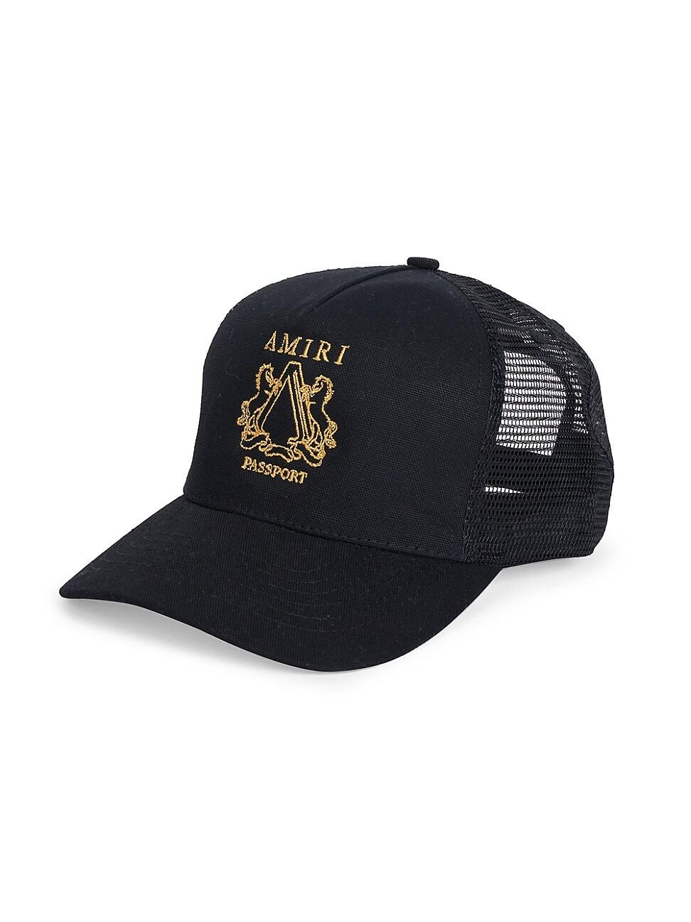 AMIRI MEN'S PASSPORT TRUCKER HAT