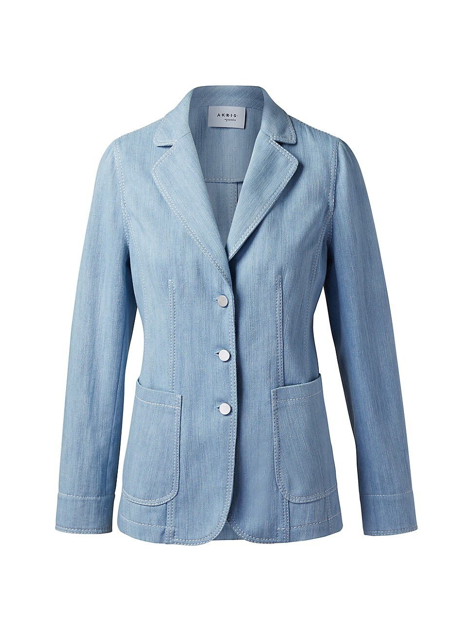 Akris Punto WOMEN'S WASHED DENIM BLAZER JACKET