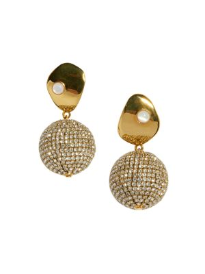 Lizzie Fortunato Crystal Sand Drop Earrings
