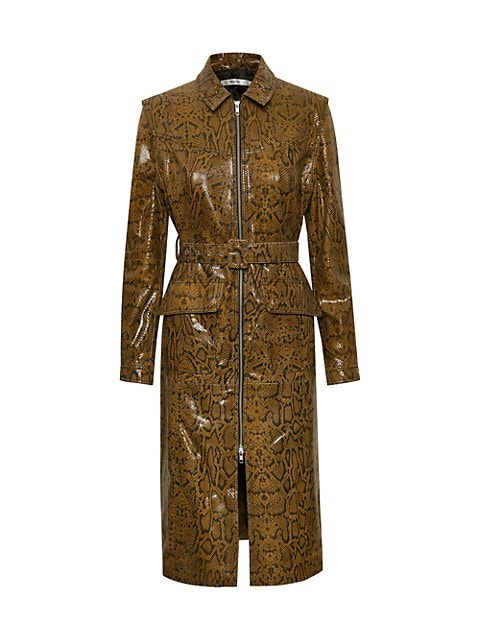 Collette Python Embossed Trench Dress