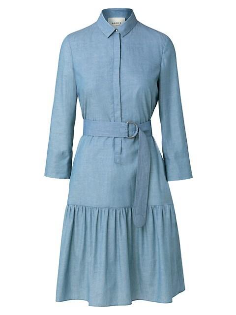 Chambray Belted Shirtdress