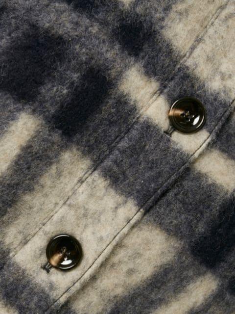 Gestuz Rina Plaid Wool-Blend Shirt Jacket | SaksFifthAvenue