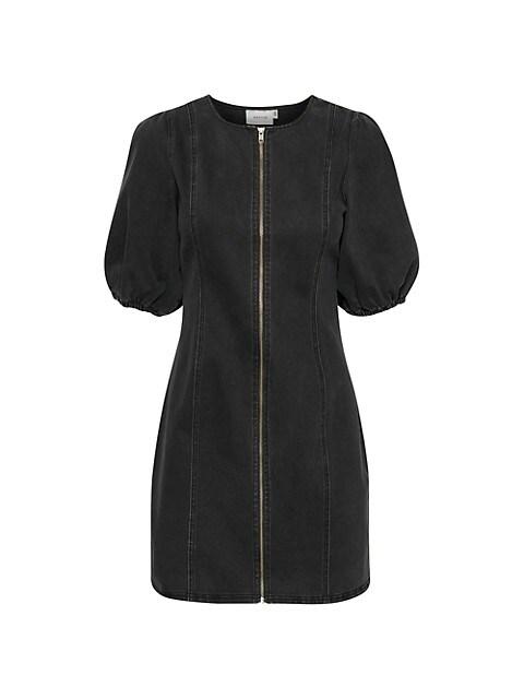 Sofy Denim Zip-Front Dress
