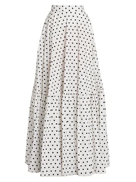 Polka Dot Cotton Maxi Skirt