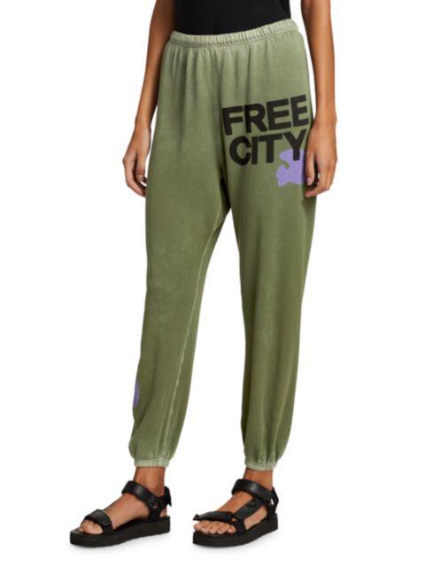 Free City Logo Fleece Sweatpants | SaksFifthAvenue