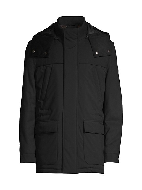 Nylon & Wool Convertible Parka
