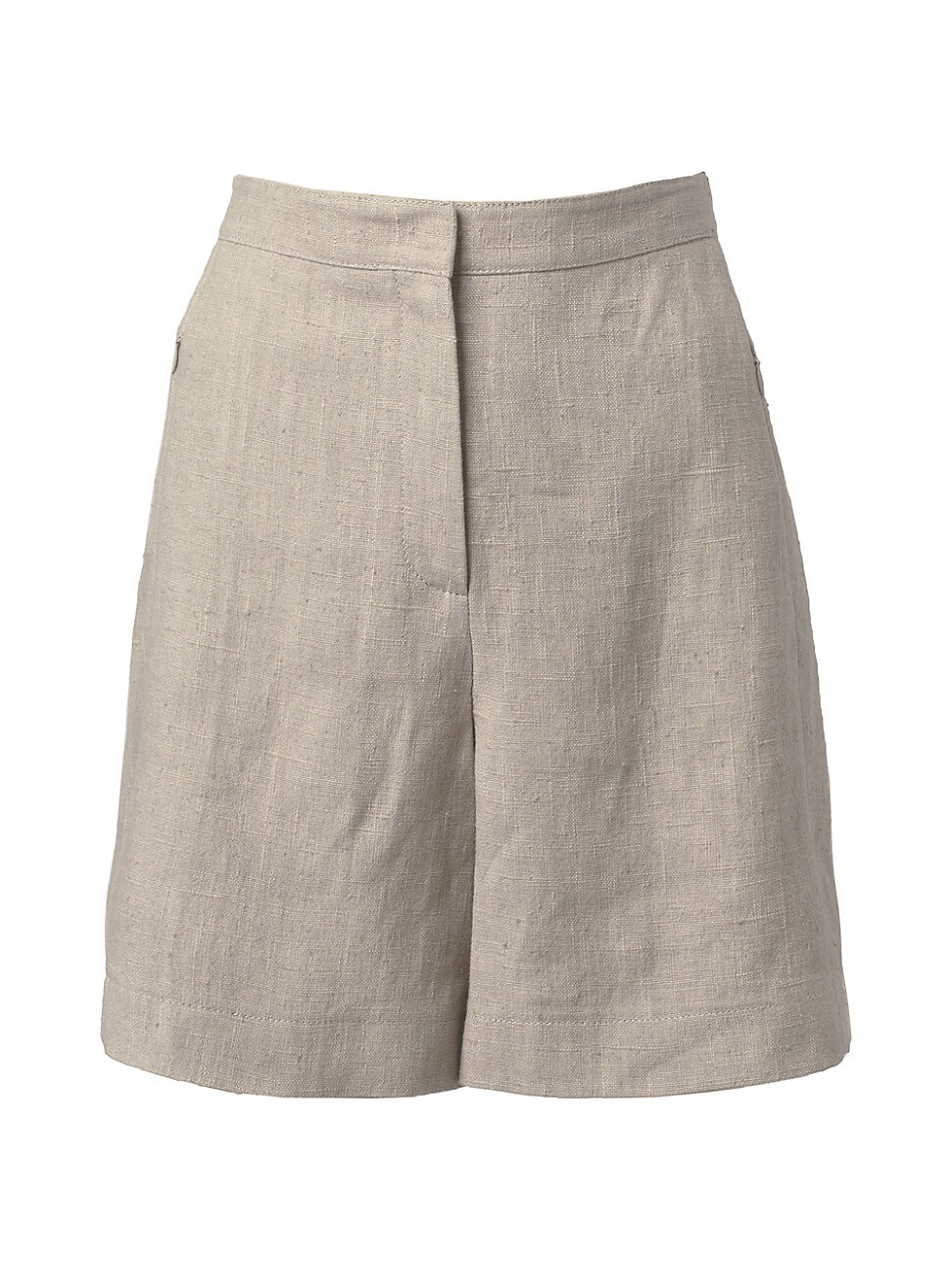 Akris Punto WOMEN'S WASHED RAW LINEN LONG SHORTS