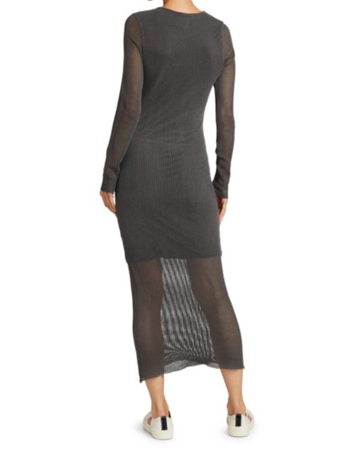 NSF Anouk Mesh Midi Dress   SaksFifthAvenue