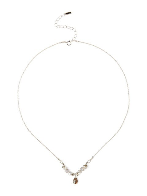 Sterling Silver & 4MM Light Grey Pearl Collar Necklace