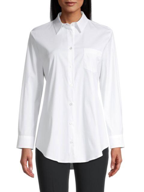 Emporio Armani Vented Stretch Poplin Shirt | SaksFifthAvenue