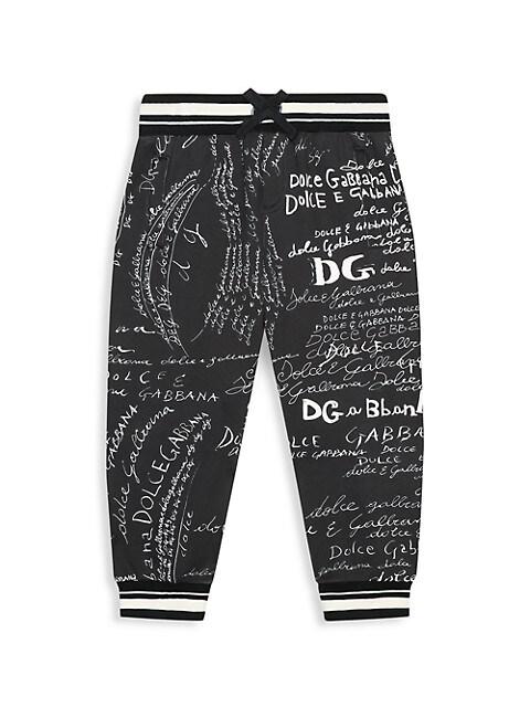 Dolce & Gabbana Little Boys & Boys Cursive Logo Joggers